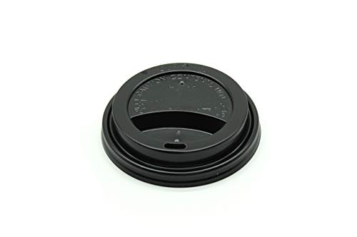 13 Souffle - [1000 COUNT] Premium Black Disposable Thermo Lids for 12-16 Ounce Single and Double-Walled Hot Paper Cups, Keeps your Beverage Hot Insulated (Hot Paper Cup Lid, Recyclable)
