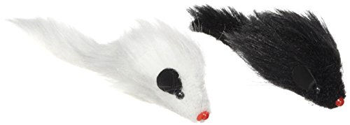 "Twin Miami Fur Mice - 4"" X 4.75"" X 1"" - Black And White"