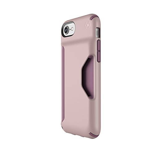 Speck Products Presidio Wallet Case for iPhone 8/7/6S/6 - Clay Pink/Plum Berry Purple