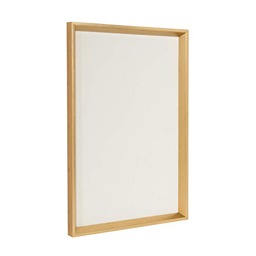 Kate and Laurel Calter Framed Linen Fabric Pinboard, 16.5x25.5, Gold