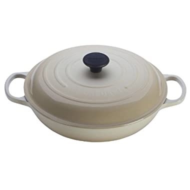 Le Creuset Signature Enameled Cast-Iron 3-3/4-Quart Round Braiser, Dune
