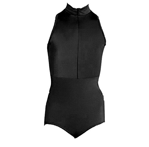 Body Wrappers P1002 Power Mesh Zip Front Leotard (Tall, Black) by Body Wrappers (Image #1)