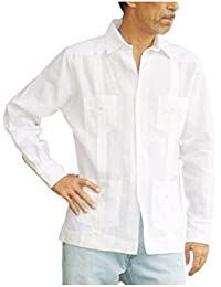 Authentic Guayabera 100% Linen For Men Made In USA