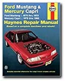 Haynes Ford Mustang 79-93, Mercury Capri 79 - 86