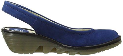 Fly London Pype - Zapatos de vestir de cuero para mujer azul - Blue (Blue/Black)