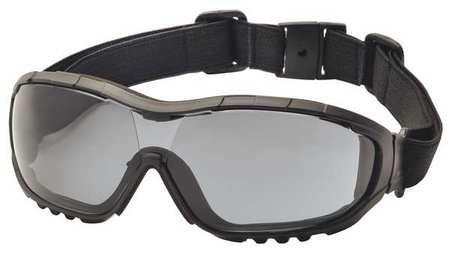 Pyramex V3G Safety Goggles, Black Strap/Temples/Gray Anti-Fog Lens by Pyramex Safety