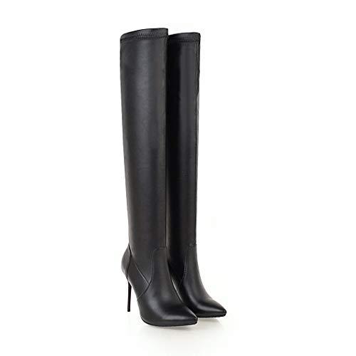 SA071 Color de Poliuretano Talla Poliuretano de Negro Botas wetkiss 43 para Mujer c1028f