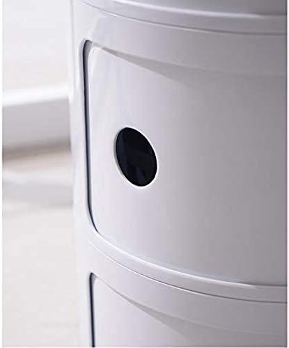 安定した プラスチックベッドサイドテーブルベッドサイドサイドテーブルは簡単で、耐久性と実用的なシェイプ ファッション (Color : H)