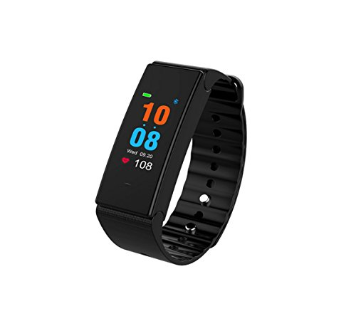 Price comparison product image Meiya Store 0.96 Inch Color Blood Pressure Smart Bracelet Heart Rate Monitor Movement 15 Children Swimming Waterproof Men's Male Health Relatives Wear Health Data Monitoring (Color : Black)