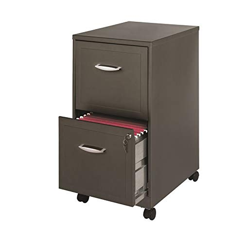 Space Solutions 20224 File Cabinet, 18'', Metallic Charcoal by Space Solutions