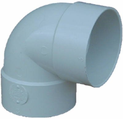 (Genova Products 40730 PVC Styrene Sewer & Drain Fittings 90 Degree Short Turn Elbow)