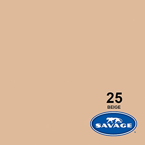 Savage Seamless Background Paper - #25 Beige (86 in x 36 ft) by Savage Universal (Image #1)