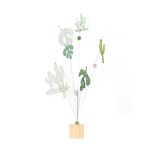 Roser Life Photo Holder Tree Handmade Tabletop Picture Display Green Cactus Tropical Leaves Decor (Pack of 1) from Roser Life