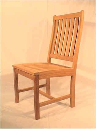 Wilshire Slat Back Dining Chair - Unfinished