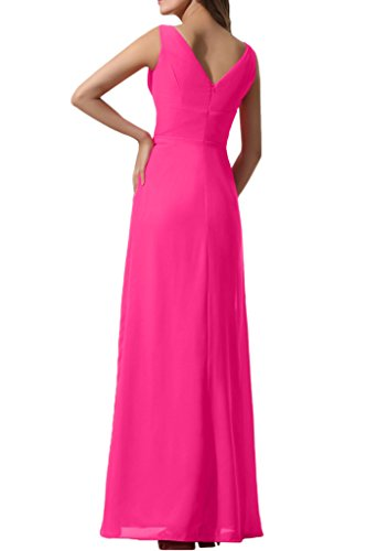 Double Party Dress Gown Avril Chic Evening Neck Weding V Seegreen Prom Chiffon Empire qEBwOBx1