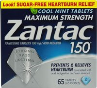 - Zantac 150 Maximum Strength Cool Mint (65 Tablets)