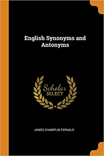 Buy English Synonyms and Antonyms Book Online at Low Prices