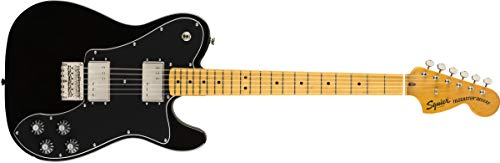 Squier by Fender Classic Vibe 70's Telecaster Deluxe Electric Guitar - Maple - Black - Fender Ash Deluxe Guitar