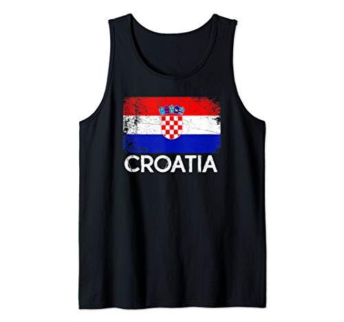Croatia Football Shirts - Croatian Flag Design | Vintage Made In Croatia Gift Tank Top