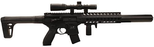 Sig Sauer MCX .177 Cal Co2 Powered 30 Rounds 14x 24mm Scope Air Rifle, Black CO2 Not Included