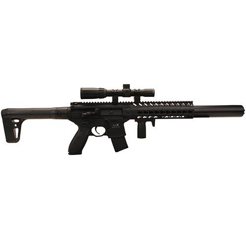 (Sig Sauer MCX .177 Cal Co2 Powered (30 Rounds) 14x 24mm Scope Air Rifle, Black (CO2 Not)