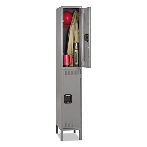 TENNSCO DTS1218361MG Double Tier Locker with Legs, Single Stack, 12w x 18d x 78h, Medium Gray (Single Tennsco)