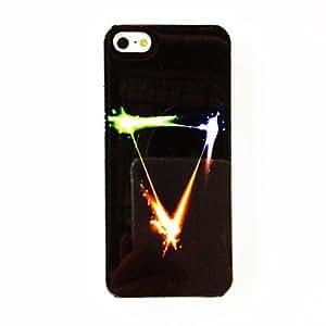 Punk Shinning Triángulo del patrón TPU caso suave para el iPhone 5/5S , Multicolor