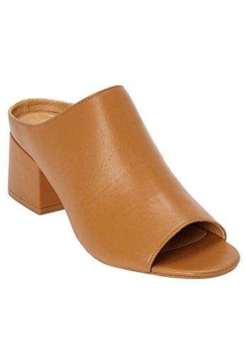 Comfortview Womens Wide Bev Mules Tan