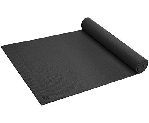 Gaiam Classic Print Yoga Mat, Black, 3mm (Gaiam Sol Dry Grip Yoga Mat Black 5mm)