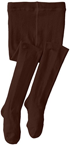 Jefferies Socks Big Girls' Seamless Organic Cotton Tights, Chocolate, 10-14 - Apparel Brown Kids Chocolate Big