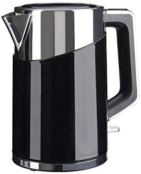 Sensio Home Water Dispenser Kettle 1.7L High Capacity Black Metal Jug 3kW Rapid Boil Heater Element Instant Hot Boiling Water, Brushed Stainless
