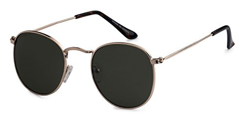 Eason Eyewear Quality Men's/Women's Vintage Inspired Metal Round Sunglasses Mirrored lens Gradient lens - Eyewear Styles Latest Mens