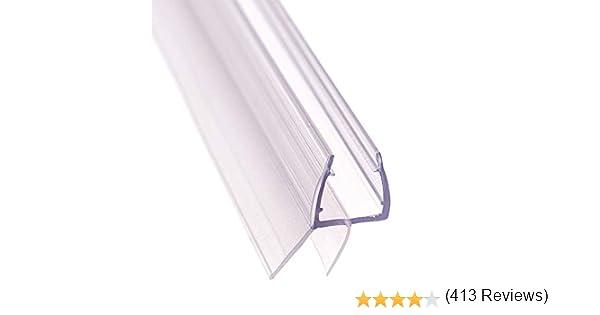 FURNICA 80cm Repuesto baño ducha Protector de puerta sello para 6/7-8mm vidrio espesor, Brecha 13,4mm UK03: Amazon.es: Juguetes y juegos