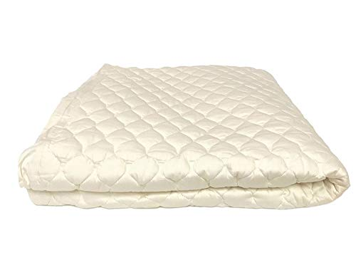 OrganicTextiles Organic Cotton Mattress Pad with Organic Filling for a Healthy Sleep (Queen, 17