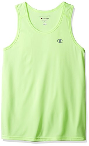 Champion Men's Vapor Tank Top With FreshIQ, Highlighter Yellow Heather, 2XL