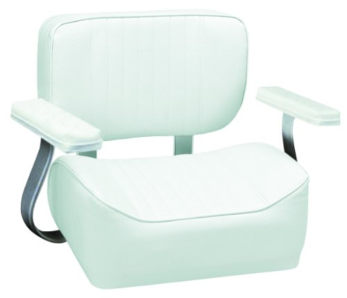 Wise 8WD431AR-710 Helm Seat with Arm Rests, White