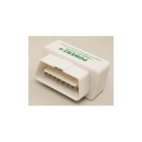 Super Mini OBD II Andriod Power2-Voiture Bluetooth lecteur de code compatible avec Android / Droid / Torque - Blanc