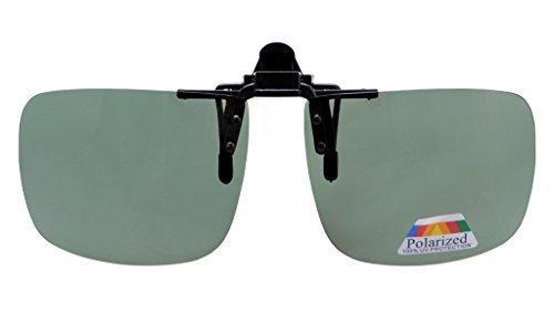 4833e7a256 Eyekepper Large Polarized Flip up Sunglasses Clip on G15 New