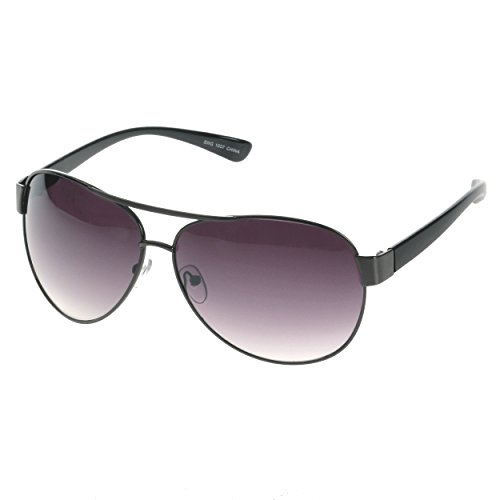 HOTLOVE Eyewear® Premium Sunglasses UV400 Lens Technology – Unisex 6203 Black Frame Fashion Aviator w Black Gradient – Perfectly Match Everyday Apparel for Women & - Shop Sunglass Online