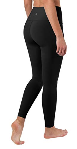 ab9240639da16b 90 Degree By Reflex High Waist Squat Proof Ankle Length Interlink Leggings  - Black - XS