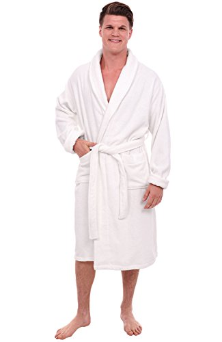 Alexander Del Rossa Mens Turkish Terry Cloth Robe, Thick Bathrobe, Large XL White (A0106WHTXL) by Alexander Del Rossa