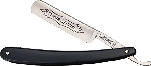Giesen & Forsthoff TIM150S-BRK Straight Razor black Plastic For Sale