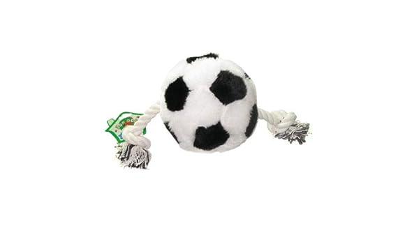 Pelota de fútbol de juguete para perro con cuerda y chirriador, 1 ...