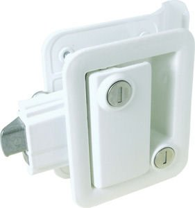 Travel Trailer Lock, Polar White
