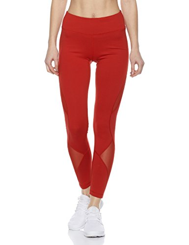 7Goals+Women%27s+Stretchy+High-Waist+Legging+%28M%2C+Red%29