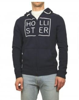 Abercrombie & Fitch New para Hombre Hollister Azul Marino Sudadera con Capucha (tamaño Mediano)