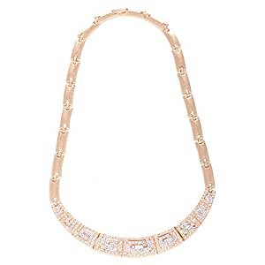 Women's Gold Plated Necklace and Pendant, 48 cm