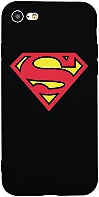 Dessin Animé Coque Pour Iphone 7 Plus Rouge Logo Superman
