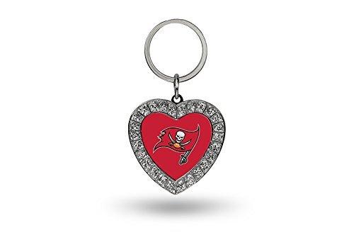 (Rico NFL Tampa Bay Buccaneers Rhinestone Heart Keychain)