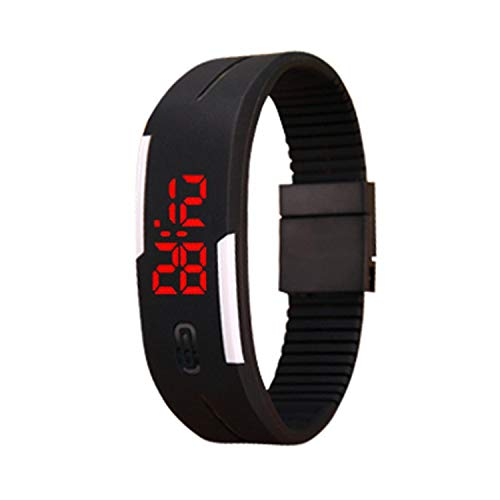 IEnkidu Smart Watches LED Electronic Sport Watch Silicone Digital Sport Bracelet Wristwatch